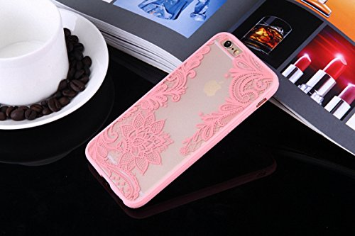 König-Shop Henna Cover Handy Hülle Case Schutzhülle Bumper Tasche Indische Sonne Mandala Rosa, Für Handy:Samsung Galaxy S7, Motiv auswählen:Indianische Spitze Blüte mit Blätter
