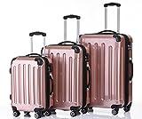 BEIBYE Zwillingsrollen 3 tlg. Reisekofferset Koffer Kofferset Trolley Trolleys Hartschale in 15...