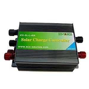 ECO-WORTHY 45A PWM-ECO-Solar-Laderegler (12 V, 24 V, automatische Arbeiten