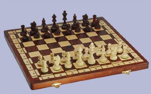 3 juegos: ajedrez, damas, backgammon, de alta calidad, de madera maciza