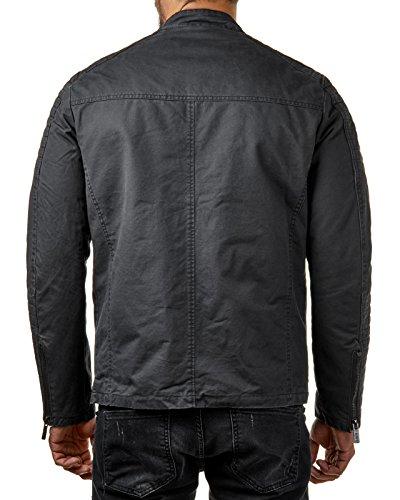 RedBridge Herren Jacke Kunst Leder Biker Geteppt M6013, Größe:M, Farbe:Schwarz 2 - 2