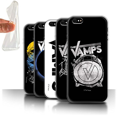Offiziell The Vamps Hülle / Gel TPU Case für Apple iPhone 6S / Pack 6pcs Muster / The Vamps Graffiti Band Logo Kollektion Pack 6pcs