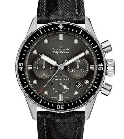 Blancpain 5200-1110-B52A - Orologio automatico da uomo con cronografo e quadrante grigio
