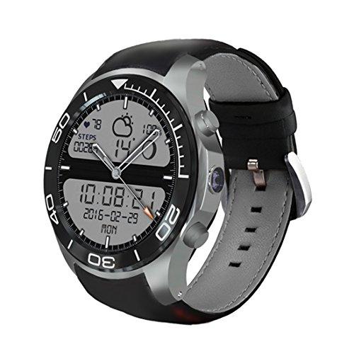 PINCHU S11 Plus Intelligente Uhr 512 RAM 8GB ROM 1.3Inch Schirm Android 2.0Mp Kamera MTK6580 GPS Wifi Bluetooth Smartwatch Für IOS Android,Silver 363 Gps