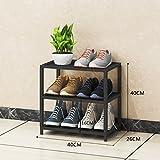 XJB Schuhregal Eisen Kunst Lagerung Schuhregal Stand frei stehend Schuh Veranstalter Regal (größe : A)