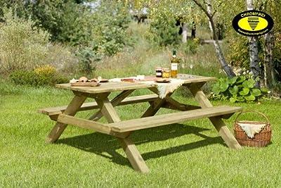 Picknicktisch aus Holz / Biergartengarnitur Tegernsee von Gartenpirat® von J. Sedlmayr GmbH
