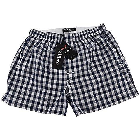 Pantalones cortos de algodón para hombre de la tela escocesa Gillbro boxeador del sueño