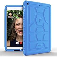 Poetic TurtleSkin iPad 9,7 Funda con Protección de Silicona de Alta Resistencia y Función de Amplificación de Sonido para Apple iPad 9,7 (lanzamiento de marzo de 2017) Azul