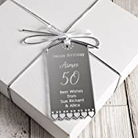 Personalised Birthday Gift Tag 18th, 21st, 30th, 40th, 50th, 60th, 65th, 70th, 80th Birthday Gift Tag for Present
