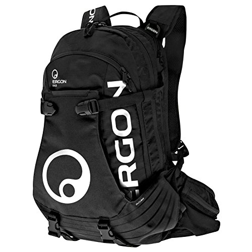Ergon BA3 Enduro Fahrrad Rucksack MTB All Mountain Bike Anatomisch Verstellbar, 4500086, Farbe Schwarz -