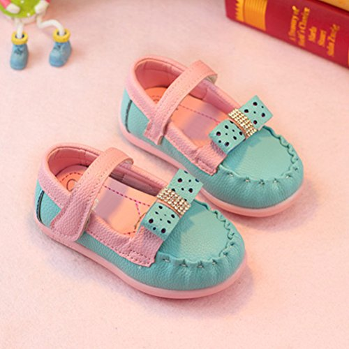 Zhhlinyuan Fashion Child Soft-Soled Shoes Baby Toddler Shoes Walking Flats Blue