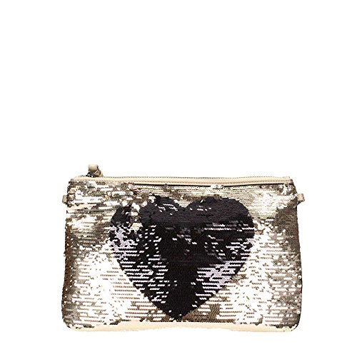 Borsa Pochette Illusion KISS Black Stamp Love