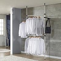 Zoternen Portant à Vêtement Garde-Robe Téléscopique Systèmes de Penderie Porte-Vêtements avec Barres, Largeur et Hauteur…