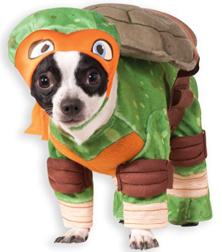 Turtle Kostüm Pet - Rubie 's Offizielles Michelangelo Teenage Mutant Ninja Turtle Pet Hund Kostüm