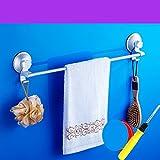 Starken Saugnapf Aluminium Badezimmer Handtuch Rack Space/ double-Punch-frei/Bad Handtuchhalter-L