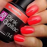 Pink Gellac Gel-Nagellack Shellac, Butterfly Kollektion 15ml UV Nagellack farbiger Nagellack Nagellackfarben (191 Neon Flirt)