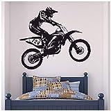 azutura Dirt Bike Trick Wandtattoo Motocross Motorrad Wand Sticker Jungen Schlafzimmer Dekor...