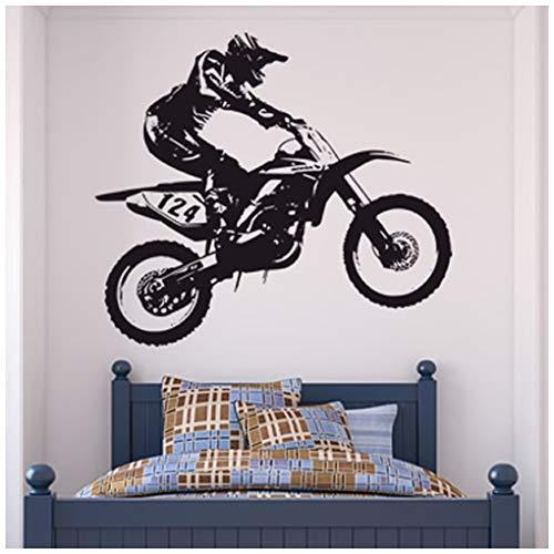azutura Dirt Bike Trick Wandtattoo Motocross Motorrad Wand Sticker Jungen Schlafzimmer Dekor verfügbar in 5 Größen und 25 Farben X-Groß Gold Metallic (Gold Dirt Bike)