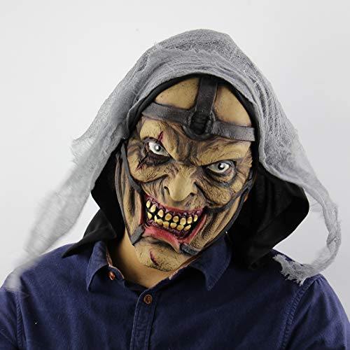 (Halloween-Maske, Horror-Zauberer Pimp Monster Maske Für Männer, Prank-Maske, Sichere Latex-Halbkopf-Geister Maske Für Halloween-Kostüm Party Und Maskerade)