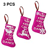dongpujidiangongsi Keep Calm and Just Dance Stage Disco Ball Decoration Christmas Stocking Xmas Tree Decor Festival Party Ornament