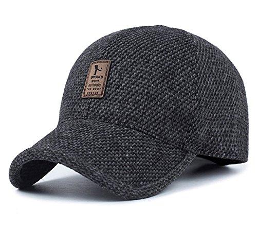 Casquette de baseball Chapeaux de sport pour les hommes et les femmes Cap de voyage adapté pour la pêche de golf Escalade Baseball Voyager (Noir)
