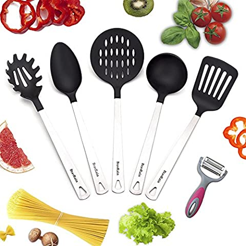 Kitchen Utensils, BravRain 5 Piece Kitchen Tools, Nonstick Nylon and