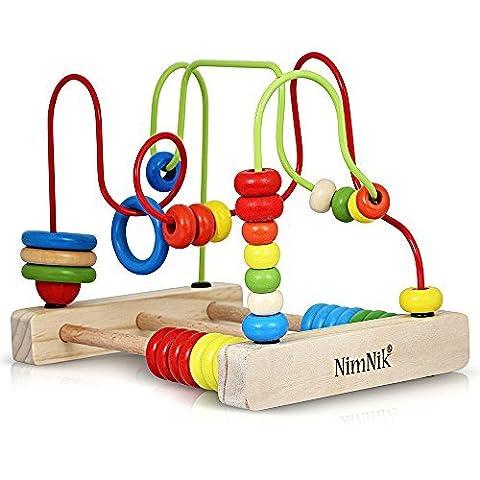 Circuit de motricité - Jouet en bois Traditionnel pour Bébés et Tout-petits- Labyrinthe de Perles - Jeu d