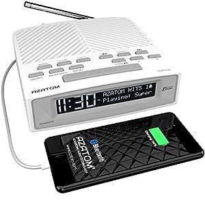 azatom horizon dab digital bedside fm radio alarm clock. Black Bedroom Furniture Sets. Home Design Ideas