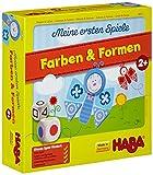 HABA 4652 - Farben & Formen, erste Spielesammlung für Kinder ab 2 Jahren, Würfel-, Lege- und Zuordnungsspiel mit bunten Blumen- und Schmettterlingsmotiven