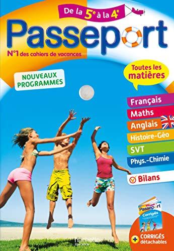 Passeport Cahier de Vacances 2019 - Toutes les matières de la 5e à la 4e