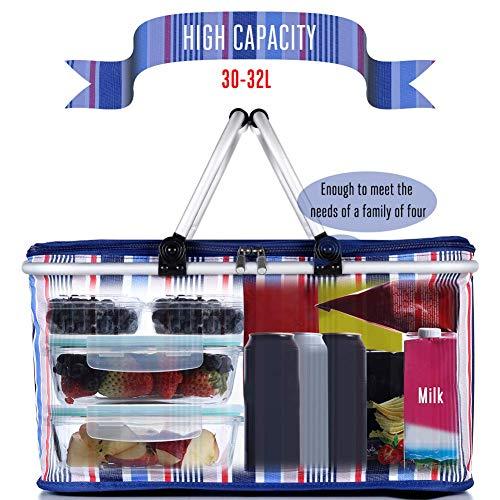 Zoom IMG-2 shauzeh cestino da picnic pieghevole