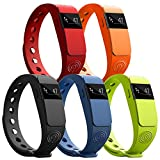 NINETEC Smartfit Fitness Tracker Bluetooth 4.0 Sport Armband Schrittzähler Aktivitätsarmband Fitnessarmband Sportuhr mit Schlafanalyse Kalorienanalyse SMS Anrufe
