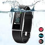 MED Smart Fitness Tracker Armbänder mit OLED Touchscreen, Herzfrequenzmesser, Bluetooth Schrittzähnler, Zahlreiche Formen für Aktivitätstrackert.Schlaf Monitor/Musikkontrolle/Anruf/GPS Sportstracker