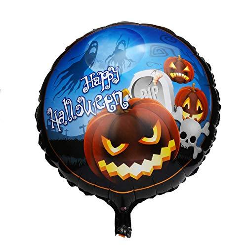 (Halloween Kürbis Ballons, Halloween Dekorationen Requisiten Party Kürbis Kopf dekorative Folie Ballon (Kürbiskopf) (Farbe : Pumpkin Head, Größe : Einheitsgröße))