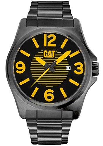 CAT PK.161.12.137 - Orologio da polso, uomo, acciaio inox placcato, colore: nero