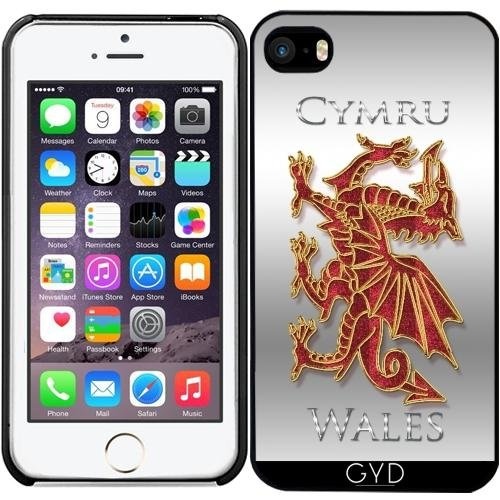 Leder Flip Case Tasche Hülle für Apple iPhone 6 Plus / 6S Plus - Waliser Drache Cymru by Tanya Starre Kunststoff