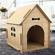 YXINY Perrera Gatos y Perros Habitación/Casa de Madera Maciza Cuatro Estaciones Disponible 3 Tamaño