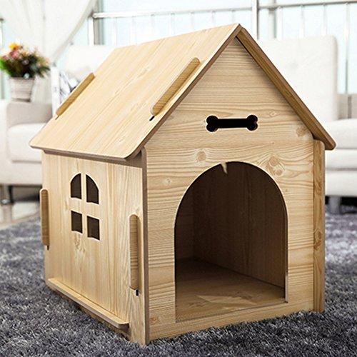 YXINY Perrera Gatos y Perros Habitación/Casa de Madera Maciza Cuatro Estaciones Disponible 3 Tamaño Puede Ser Seleccionado (Tamaño : Metro)