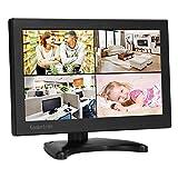 10 Zoll Monitor 1280x800 IPS Tragbarer LCD HD Bildschirm Monitor mit VGA HDMI Audio Ports für DSLR, Haus Sicherheit, CCTV Kamera, PC Monitor