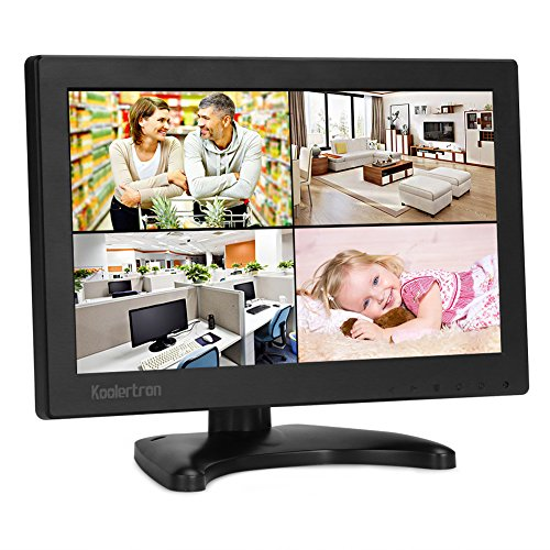 10.1 Zoll Monitor 1280 * 800 IPS Tragbarer LCD HD Bildschirm Monitor mit VGA HDMI Audio Ports für DSLR, Haus Sicherheit, CCTV Kamera, PC Monitor Hd Lcd-monitor