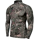 TM-T32-PCK_X-Small Tesla Men's Thermal WinterGear Compression Baselayer Mock Long Sleeve T Shirts T32