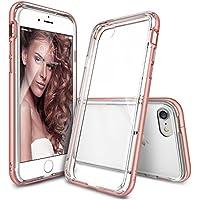 Custodia iPhone 7, Ringke [Frame] A doppio strato di TPU + PC Bumper [Protezione goccia] Cancella Torna Shock assorbimento di liquidi bordo curvo Migliorare protettivo paraurti per Apple iPhone 7 2016 - Rose Gold