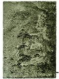 Benuta Shaggy Hochflor Teppich Whisper Grün 120x170 cm | Langflor Teppich für Schlafzimmer und Wohnzimmer