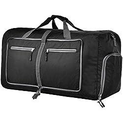 Sararoom-Faltbare Reisetasche Tragbare Aufbewahrungstasche mit großer Kapazität Wasserdichte Tasche Single Schulter Duffle Bag (80L)