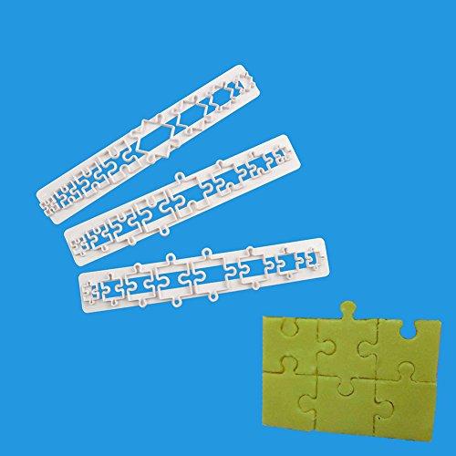 Backen Werkzeuge 3 Puzzle Jigsaw Kuchenform Schokolade Cookies (Jigsaw Puzzle Pizza)