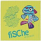 Polyclean Microfasertuch mit Motiv'FISCHE' - Auch geeignet zur Reinigung von Displays, DVDs/CDs und Objektiven! (17,5x17,5cm) - waschbar