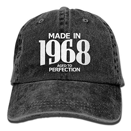 Hoswee Baseballmütze Hüte Kappe Made in 1968 Aged to Perfection Unisex Truck Baseball Cap Adjustable Hat Military Caps