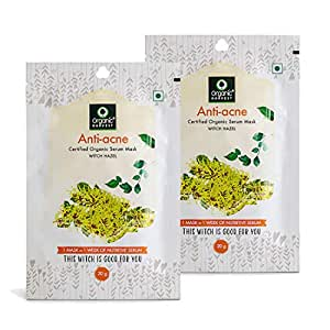 Organic Harvest Anti-Acne Face Sheet Mask, Helps in Treating Acne, Parabens & Sulphate Free- 20gm (Pack of 2)