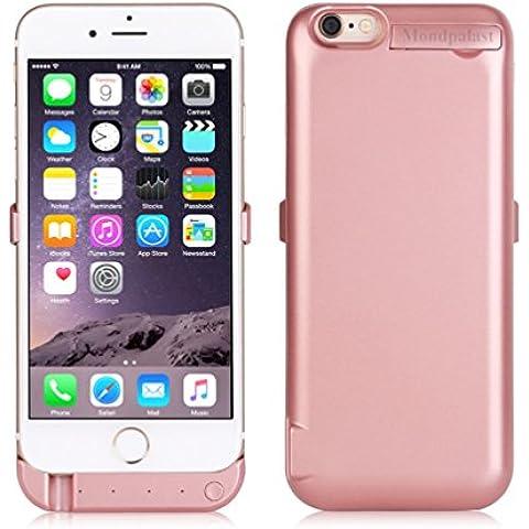 Mondpalast@ Oro rosa Externos 8200 mah batería Funda Cargador Para Apple iphone 6+ 6S+ IPHONE 6 PLUS 6S PLUS iPhone 6s / 6 plus (Con salida USB para cargar segundo teléfono