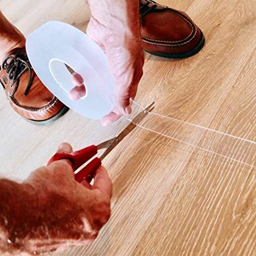 ZAMAOZHU Doppelseitiges Nanoklebeband Spurlos Waschbar Abnehmbare Klebebänder Küche Bad Wohnzimmer Gel Multifunktions-Grip-Aufkleber -